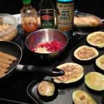 Eggplant Tartine ingredients